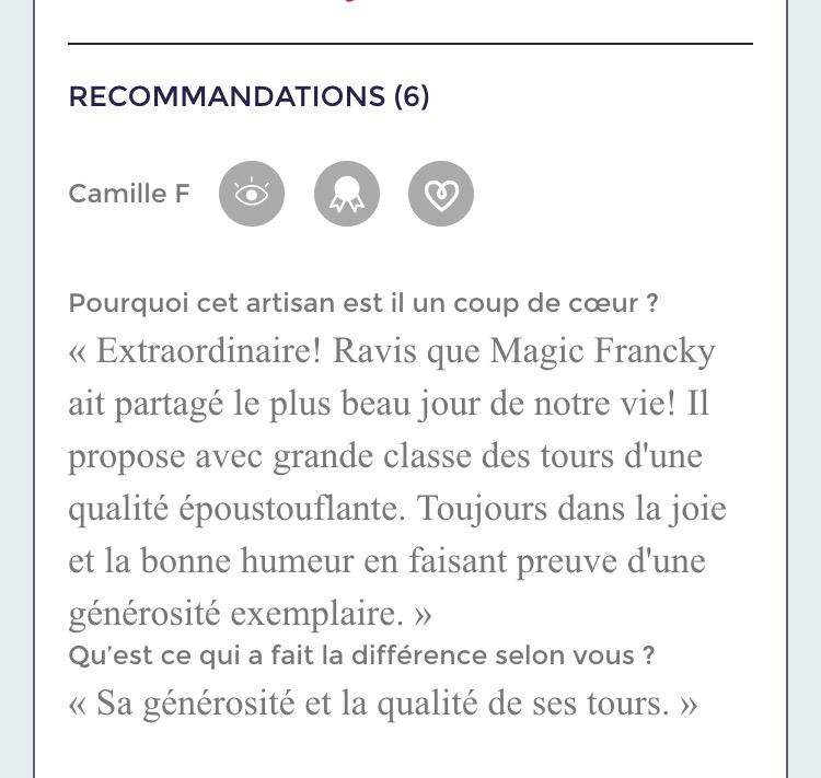 mariage avec Magic-Francky